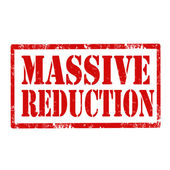 Massive Reduction-stamp — Wektor stockowy
