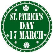 St. Patrick's Day-label — Stock Vector