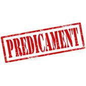 Predicament-stamp — Stock Vector