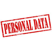 Personal Data-stamp — Stock Vector