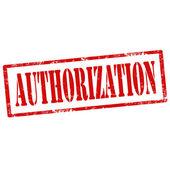 Authorization-stamp — Stock Vector