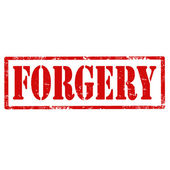 Forgery-stamp — Stock Vector