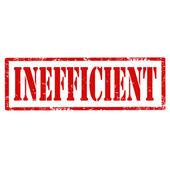 Inefficient-stamp — Stock Vector