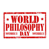 World Philosophy Day-stamp — Wektor stockowy