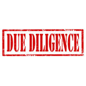 Due Diligence-stamp — Stock Vector