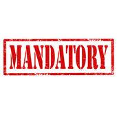 Mandatory-stamp — Stok Vektör
