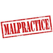 Malpractice-stamp — Stock Vector