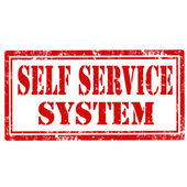 Self Service System-stamp — Stock Vector