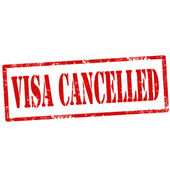 Visa Cancelled-stamp — Stock Vector
