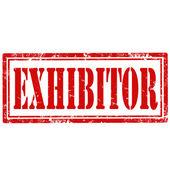 Exhibitor-stamp — Stockvector