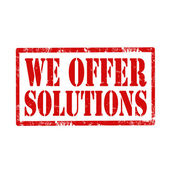 We Offer Solutions-stamp — Stock Vector