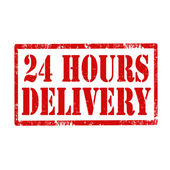 24 Hours Delivery-stamp — Stock Vector