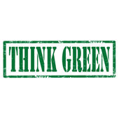 Think Green-stamp — Stock Vector
