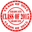 Class Of 2015-stamp — Stock Vector #46417361