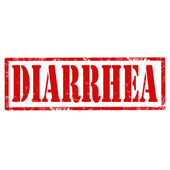Diarrhea-stamp — Stock Vector