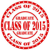 Class Of 2015-stamp — Stock Vector