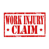 Work Injury-stamp — Stock Vector