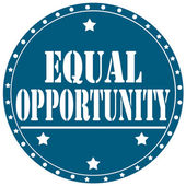 Equal Opportunity-label — Stock Vector