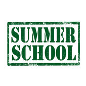 Summer School-stamp — Stock Vector