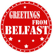 Greetings From Belfast — Stock Vector
