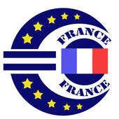 France-label — Stock Vector