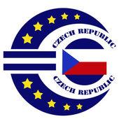 捷克共和国标签 — 图库矢量图片