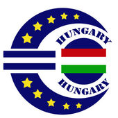 Hungary-label — Stock Vector