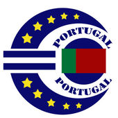 Portugal-label — Stock Vector