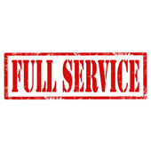 Full Service-stamp — Stock Vector