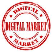 Rynek cyfrowy-pieczęć — Wektor stockowy