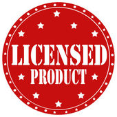 Licensed Product-label — Stock Vector
