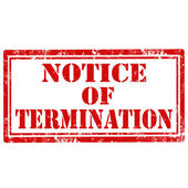 Notice Of Termination-stamp — Stockvektor