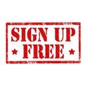 Sign Up Free-stamp — Vecteur