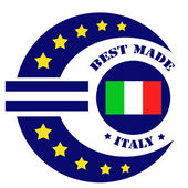 Best Made-Italy — Vector de stock