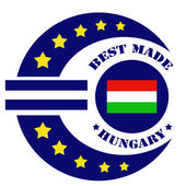 Best Made-Hungary — Vector de stock