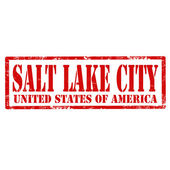 Salt Lake City-stamp — Vector de stock