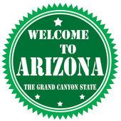 Bem-vindo ao arizona-etiqueta — Vetor de Stock