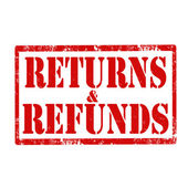 Returns & Refunds-stamp — Stock Vector