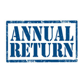 Annual Return-stamp — Vecteur