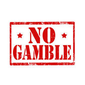 No Gamble-stamp — Vettoriale Stock