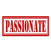 Passionate-stamp — Stock Vector