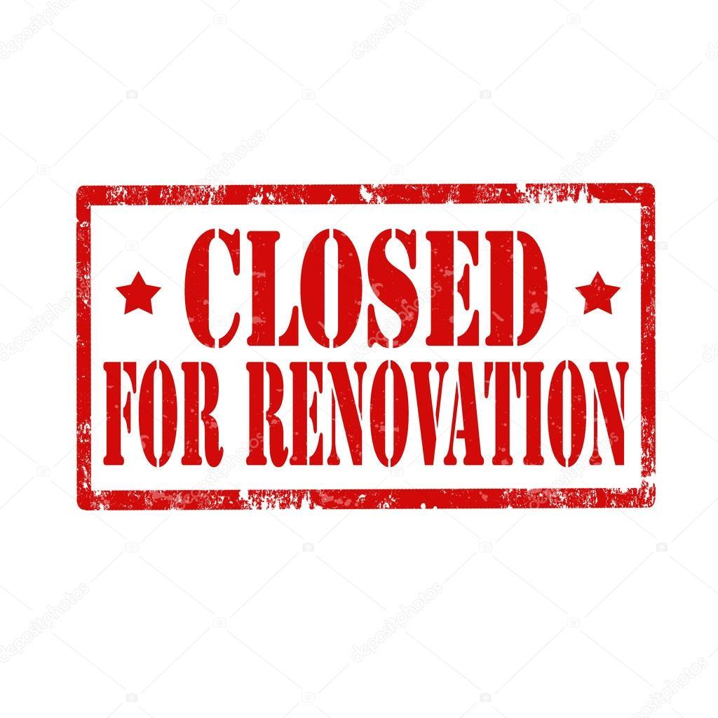 Closed For Renovation Stamp Stock Vector 169 Carmen Dorin