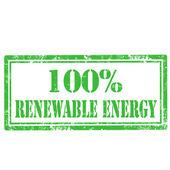 Erneuerbare Energie-Stempel — Stockvektor