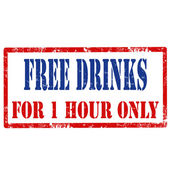 Free Drinks-stamp — Stock Vector