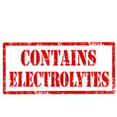 Contains Electrolytes-stamp — Vettoriale Stock