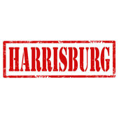 Harrisburg-stamp — Stock Vector