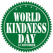 World Kindness Day-label — Stock Vector