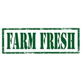 Farm Fresh-stamp — Stock Vector