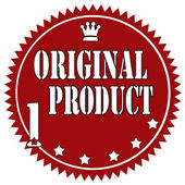 Original Product-label — Stock Vector