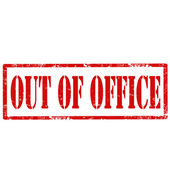 Out Of Office-stamp — Stock Vector